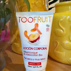 Loción corporal Albaricoque y Melocotón bio Toofruit