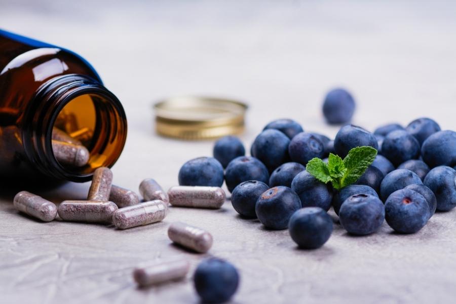 cápsulas de suplementos dietéticos